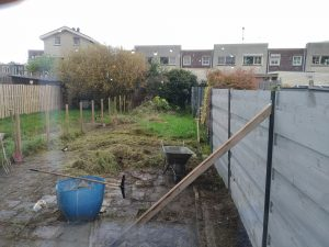 achtertuin opruimen
